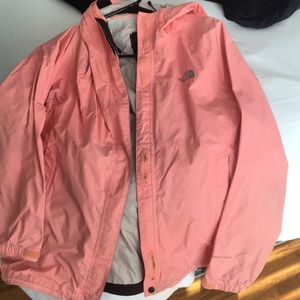 North face coral women's rain jacket. Size medium